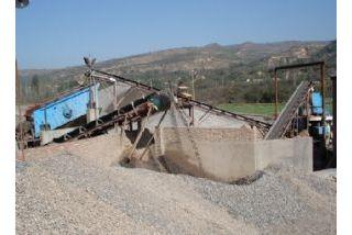 Planta de produção de areia
