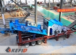 Mobile crushing plant in assembly