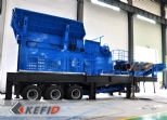 Mobile crushing plant in the workshop