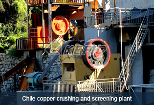 Copper crushing and screening plant in Chile