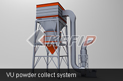 VU powder collect system
