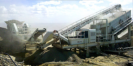 80TPH Mobile Crushing Plant in Mongolia