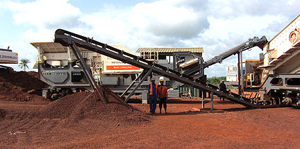 Mobile Type Iron Ore crushing line in Guinea