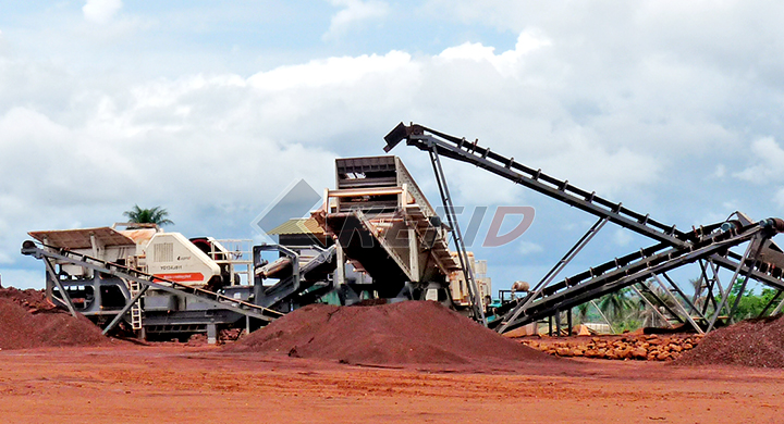 Guinea 500TPH Iron Ore Mobile Crushing Plant