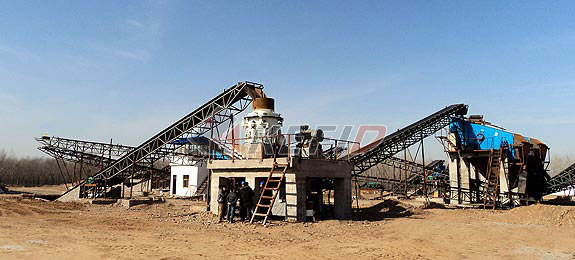 200TPH granite crushing production line process