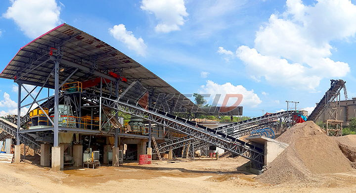 KEFID 150tph andesite crushing and reshaping production line