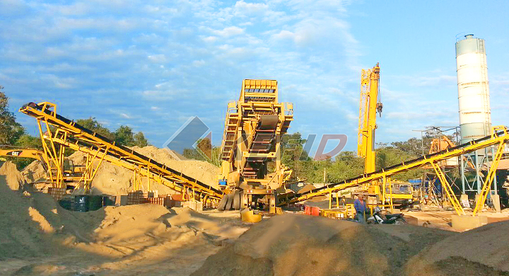 KEFID 120tph river stone mobile crushing line in Laos