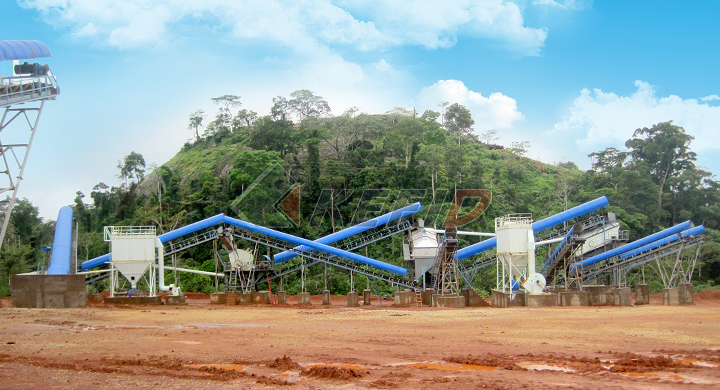 KEFID 200tph granite crushing line in Cameroon