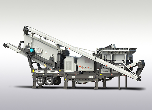 Three combinations mobile crushing plant
