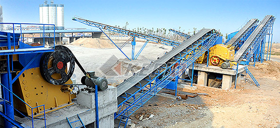 Soft stone crushing plant